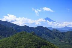 Mt Kinpou och Mt fuji Fotografering för Bildbyråer