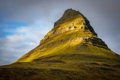 Mt Kirkjufell,冰岛 免版税图库摄影