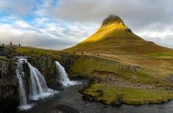Mt Kirkjufell,冰岛 免版税库存照片
