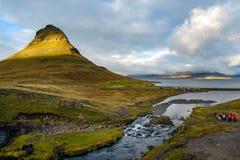 MT Kirkjufell, IJsland Stock Afbeeldingen