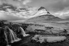 MT Kirkjufell, IJsland in Infrared Royalty-vrije Stock Afbeelding