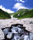 Mt.Kitadake con la palude di Ookanbasawa Fotografia Stock Libera da Diritti