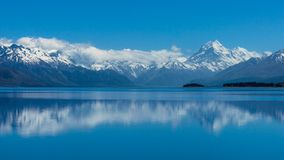 Mt Kochen Sie,/Aoraki ist neuer höchster Berg Zealand's lizenzfreies stockfoto