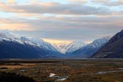 Mt Kock södra ö Nya Zeeland Arkivfoto