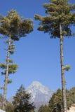 Mt Kongde 免版税图库摄影