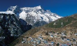 Mt. Kwondge & Namche Bazaar Royalty Free Stock Image