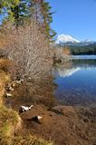 Mt. Lassen above Manzanita Lake Stock Photography