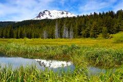 MT Lassen, het vulkanische nationale park van Lassen, Californië Royalty-vrije Stock Fotografie