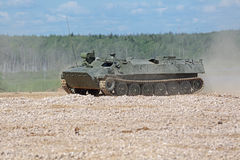 The MT-LB auxiliary armoured tracked vehicle Stock Photography