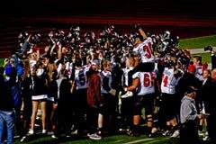 Mt. Le football de lycée de vue va au championnat Images libres de droits