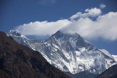 Mt Lhotse y Everest imagenes de archivo