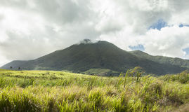 Mt Liamuiga on St Kitts Stock Photo