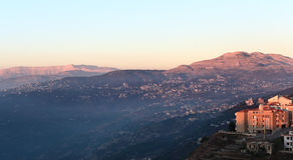 Mt Liban przy zmierzchem Obrazy Royalty Free