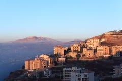 MT Libanon bij zonsondergang Royalty-vrije Stock Afbeelding