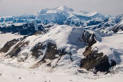 Mt. Logan - The highest mountain of Canada. The biggest non-polar icefield, Columbia icefield, snowy dream, frozen landscape royalty free stock photo