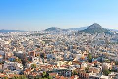 Mt Lycabettus from Acropolis, Athens, Greece Stock Images