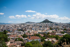 Mt Lycabettus from the acropolis Stock Image