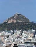 Mt Lycabettus i Aten, Grekland royaltyfri fotografi