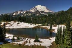 Mt más lluvioso y lago Tipsoo Foto de archivo libre de regalías