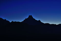 Mt. Machapuchare fish tail royalty free stock photography