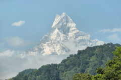Mt Machapuchare view in Nepal Stock Photos