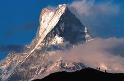 Mt Machhapuchhre/摆尾 库存图片