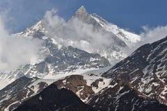 Mt Machhapuchre 免版税库存照片