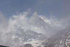 Mt Machhapuchre 库存照片