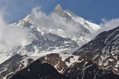 Mt. Machhapuchre Royalty Free Stock Photo