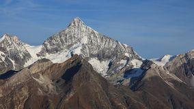 Mt maestoso Weisshorn, vista da Gornergrat Fotografia Stock