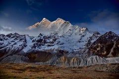 MT MaKaLu in Tibet Stock Afbeelding