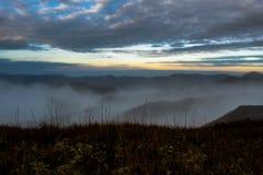 Mt Mar de Pulag Filipinas de nubes Fotos de archivo libres de regalías