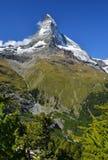 Mt Matterhorn nelle alpi della Svizzera (pennina) Fotografia Stock