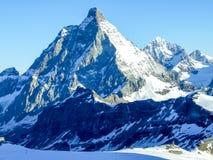 Mt Matterhorn pendant le matin Image stock