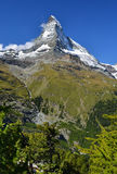 Mt Matterhorn in Switzerland Alps (Pennine). Climbers destination in Europe Stock Photography