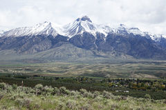 Mt McCaleb -马偕,爱达荷 库存照片