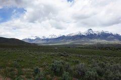 Mt McCaleb -马偕,爱达荷 图库摄影