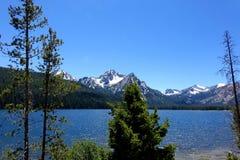 Mt McGowan och Stanley Lake - Idaho Royaltyfri Bild