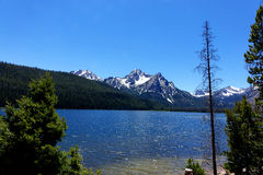 Mt McGowan och Stanley Lake - Idaho Royaltyfria Foton