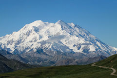 Mt. McKinley. A Photo of Mt. McKinley in Denali National Park, Alaska Royalty Free Stock Photography