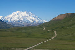 Mt. McKinley. A Photo of Mt. McKinley in Denali National Park, Alaska Stock Images