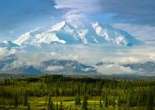 Mt McKinley Alaska Arkivfoto