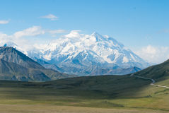 Mt. McKinley. As seen in Denali national park on a clear day Royalty Free Stock Image