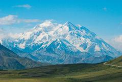 Mt. McKinley. As seen in Denali national park on a clear day Royalty Free Stock Photo