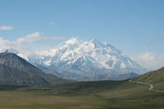 Mt. McKinley. As seen in Denali national park on a clear day Stock Image