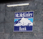 MT. Mckinley Bank. Is the oldest and largest local financial institution in Fairbanks. Alaska Stock Image