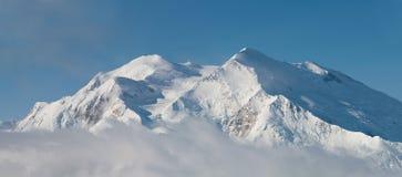 Mt McKinley nel panorama della sosta nazionale di Denali Fotografie Stock Libere da Diritti