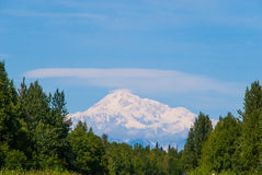 Mt. McKinley. On a sunny day by Healy, Alaska Royalty Free Stock Images