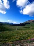 Mt Mckinley through a valley Stock Photo