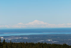 Mt. McKinley. View from Anchorage which is over 400 miles away on a clear day Stock Photo